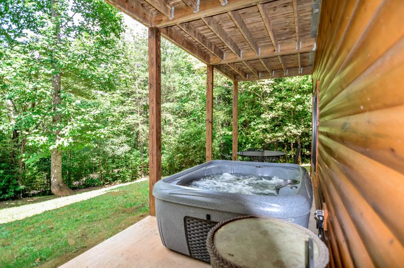 Hot Tub North Georgia Hiawassee Vacation Rental