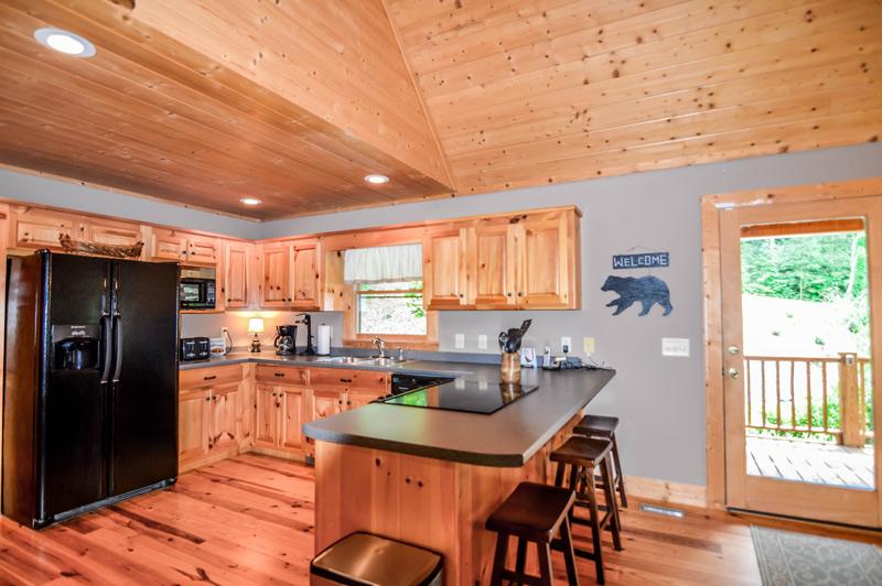 Mountain Cabin Vacation Rental Kitchen